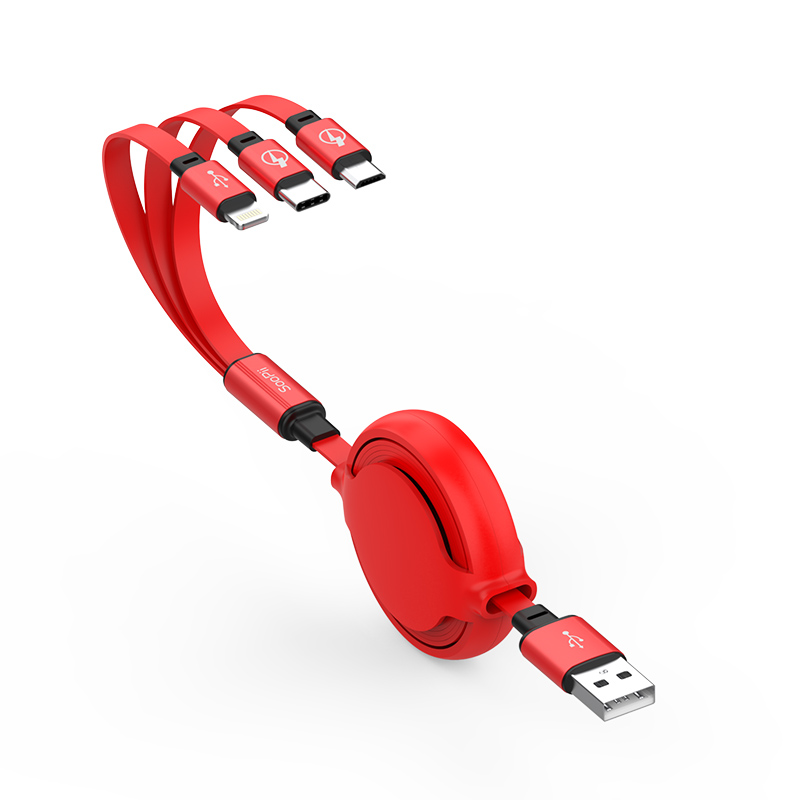 S28 Retractable 3 in 1 USB Cable
